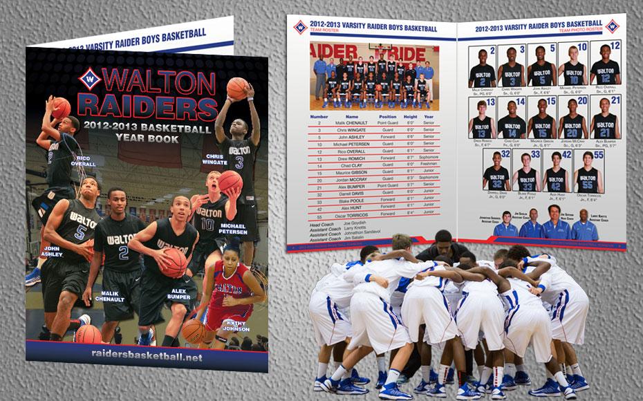 Walton Raiders Basketball Yearbook Full Graphic Effect